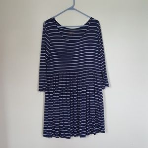 Navy and White Baby doll Tunic